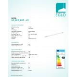 EGLO 11741 | G13 / T8 LED 10W -> 60W Eglo cilindar LED izvori svjetlosti 600mm + starter za fluo rasvijetu 830lm 3000K CRI>80