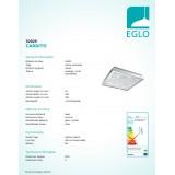 EGLO 32025 | Cardito Eglo stropne svjetiljke svjetiljka 1x LED 1700lm 3000K krom, prozirna