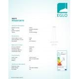 EGLO 39273 | Penaforte Eglo visilice svjetiljka okrugli jačina svjetlosti se može podešavati 1x LED 2100lm + 1x LED 3600lm 3000K bijelo