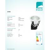 EGLO 87993   Basic2 Eglo ugradbene svjetiljke - snažnozračne svjetiljke svjetiljka Ø190mm 1x E27 bijelo