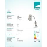 EGLO 92933   Mini-4 Eglo utična svjetiljka svjetiljka s prekidačem 1x GU10 240lm 3000K poniklano mat, krom