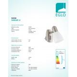 EGLO 92938 | Dakar-4 Eglo utična svjetiljka svjetiljka s prekidačem 1x E14 poniklano mat, krom