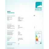 EGLO 94478 | Pancento-2 Eglo visilice svjetiljka 1x LED 480lm 3000K krom, bijelo, prozirna