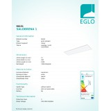 EGLO 96151 | Salobrena-1 Eglo spušteni plafon, stropne svjetiljke, visilice LED panel 1x LED 5500lm 4000K bijelo