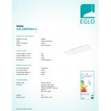 EGLO 96664 | EGLO-Connect-Salobrena Eglo spušteni plafon, stropne svjetiljke, visilice smart rasvjeta pravotkutnik daljinski upravljač jačina svjetlosti se može podešavati, sa podešavanjem temperature boje, promjenjive boje 1x LED 4300lm 2700 <-> 65