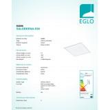 EGLO 96896   Salobrena-RW Eglo spušteni plafon, stropne svjetiljke, visilice LED panel, Relax & Work četvrtast s impulsnim prekidačem jačina svjetlosti se može podešavati, sa podešavanjem temperature boje 1x LED 3000lm 2700 - 4000K bijelo