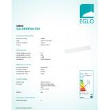 EGLO 96898 | Salobrena-RW Eglo spušteni plafon, stropne svjetiljke, visilice LED panel, Relax & Work pravotkutnik s impulsnim prekidačem jačina svjetlosti se može podešavati, sa podešavanjem temperature boje 1x LED 4600lm 2700 - 4000K bijelo