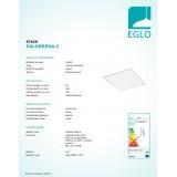 EGLO 97629 | EGLO-Connect-Salobrena Eglo spušteni plafon, stropne svjetiljke, visilice smart rasvjeta četvrtast daljinski upravljač jačina svjetlosti se može podešavati, sa podešavanjem temperature boje, promjenjive boje 1x LED 2500lm 2700 <-> 6500K