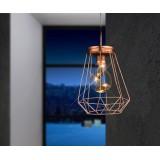 GLOBO 28198 | Spacy-1 Globo dekoracija svjetiljka s prekidačem 5x LED crveni bakar