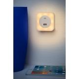 LUCIDE 22203/01/36 | Led-Night-Light Lucide noćno svjetlo svjetiljka USB utikač 5x LED 50lm 2700K srebrno, opal
