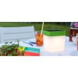 LUTEC 6908001340   Table-Cube Lutec nosiva, stolna svjetiljka sa tiristorski dodirnim prekidačem solarna baterija, jačina svjetlosti se može podešavati 1x LED 100lm 3000K IP44 narančasto, opal