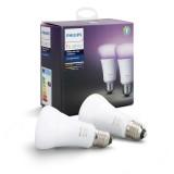PHILIPS 8718696729052   E27 10W Philips obični A19 LED izvori svjetlosti hue smart rasvjeta 806lm 2200 <-> 6500K jačina svjetlosti se može podešavati, promjenjive boje, dvodijelni set 160° CRI>80