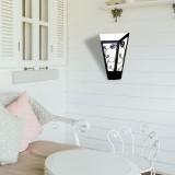 RABALUX 8790 | York Rabalux zidna svjetiljka 1x E27 IP44 UV crno mat, opal