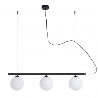 ALDEX 1006E/1 | Beryl Aldex visilice svjetiljka 3x E14 crno, bijelo