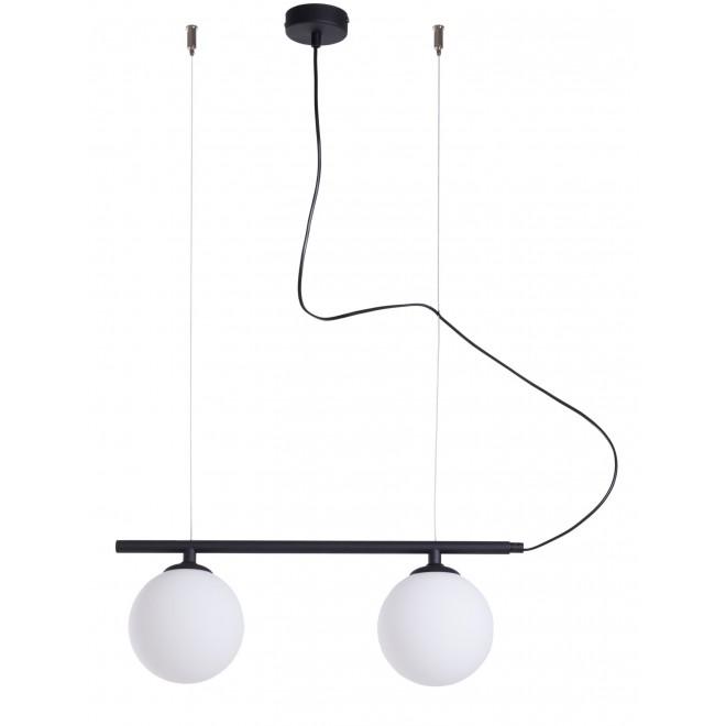 ALDEX 1006H1 | Beryl Aldex visilice svjetiljka 2x E14 crno, bijelo
