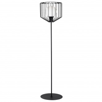 ALDEX 1010A1 | Ramos-II Aldex podna svjetiljka 168cm s prekidačem 1x E27 crno