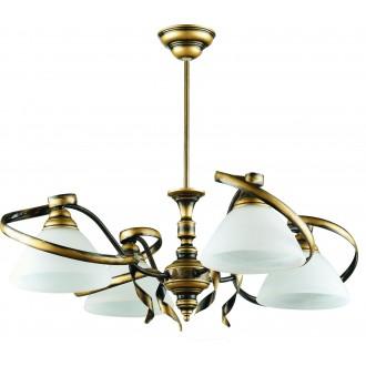 ALDEX 368/L2 | Retro-II Aldex stropne svjetiljke svjetiljka 4x E27 antik zlato, bijelo