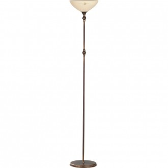 ALDEX 377A | HitA Aldex podna svjetiljka 170cm s prekidačem 1x E27 antik crveni bakar, krem