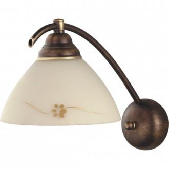 ALDEX 377C | HitA Aldex zidna svjetiljka 1x E27 antik crveni bakar, krem