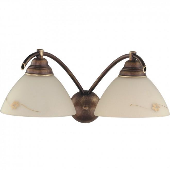 ALDEX 377D   HitA Aldex zidna svjetiljka 2x E27 antik crveni bakar, krem