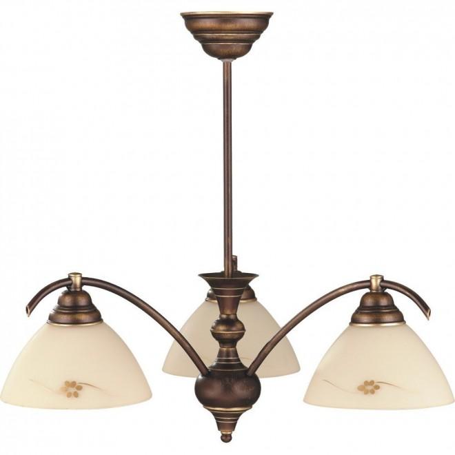 ALDEX 377E   HitA Aldex stropne svjetiljke svjetiljka 3x E27 antik crveni bakar, krem