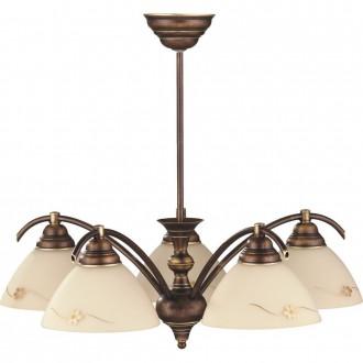ALDEX 377F | HitA Aldex stropne svjetiljke svjetiljka 5x E27 antik crveni bakar, krem