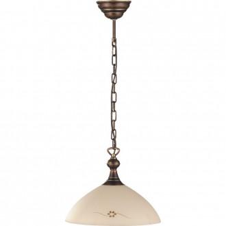 ALDEX 377G | HitA Aldex visilice svjetiljka 1x E27 antik crveni bakar, krem