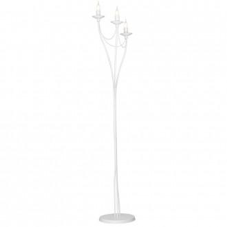 ALDEX 397A | Roza Aldex podna svjetiljka 164cm sa nožnim prekidačem 3x E14 bijelo
