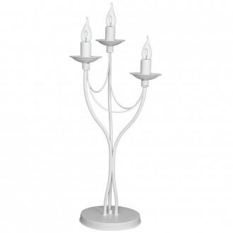 ALDEX 397B/D | Roza Aldex stolna svjetiljka 63cm sa prekidačem na kablu 3x E14 bijelo