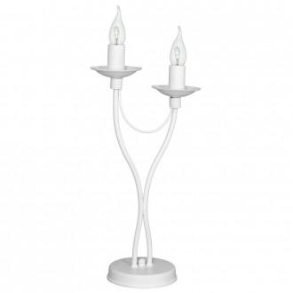 ALDEX 397B/M | Roza Aldex stolna svjetiljka 47cm sa prekidačem na kablu 2x E14 bijelo