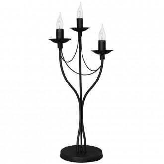 ALDEX 397B1/D | Roza Aldex stolna svjetiljka 63cm sa prekidačem na kablu 3x E14 crno