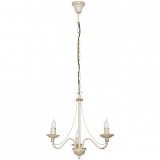 ALDEX 397E/9 | Roza Aldex luster svjetiljka 3x E14 krem