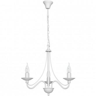 ALDEX 397E | Roza Aldex luster svjetiljka 3x E14 bijelo