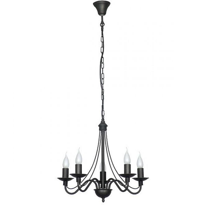 ALDEX 397F1 | Roza Aldex luster svjetiljka 5x E14 crno