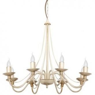 ALDEX 397P9 | Roza Aldex luster svjetiljka 8x E14 krem