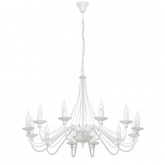 ALDEX 397R | Roza Aldex luster svjetiljka 12x E14 bijelo