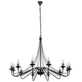 ALDEX 397R1 | Roza Aldex luster svjetiljka 12x E14 crno
