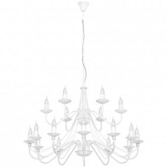 ALDEX 397S | Roza Aldex luster svjetiljka 18x E14 bijelo