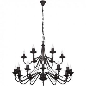 ALDEX 397S1 | Roza Aldex luster svjetiljka 18x E14 crno