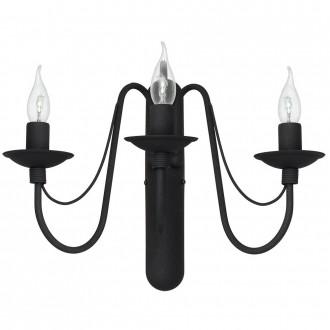 ALDEX 397Y1 | Roza Aldex zidna svjetiljka 3x E14 crno