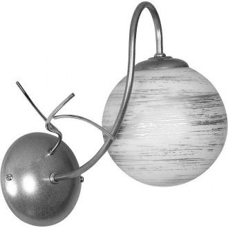 ALDEX 556C | RomanceA Aldex zidna svjetiljka 1x E14 srebrno, bijelo