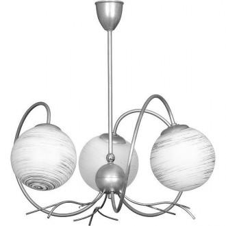 ALDEX 556E | RomanceA Aldex stropne svjetiljke svjetiljka 3x E14 srebrno, bijelo