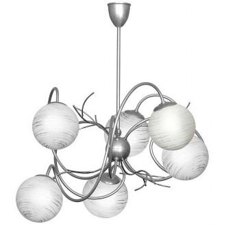 ALDEX 556K | RomanceA Aldex stropne svjetiljke svjetiljka 6x E14 srebrno, bijelo