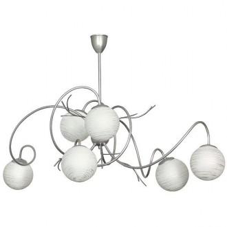 ALDEX 556K1 | RomanceA Aldex stropne svjetiljke svjetiljka 6x E14 srebrno, bijelo