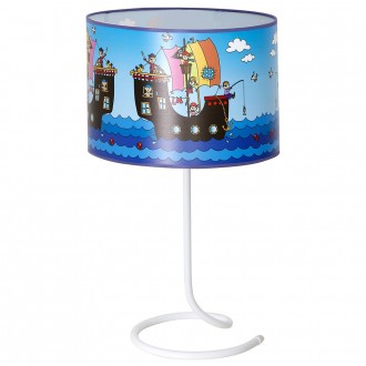ALDEX 657B12 | Piraci-I Aldex stolna svjetiljka 53cm s prekidačem 1x E27 bijelo, plavo, višebojno