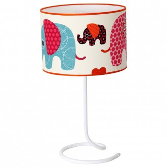 ALDEX 657B14 | Slonik Aldex stolna svjetiljka 53cm s prekidačem 1x E27 bijelo, višebojno