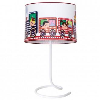 ALDEX 657B15 | Lokomoto-II Aldex stolna svjetiljka 53cm s prekidačem 1x E27 bijelo, višebojno