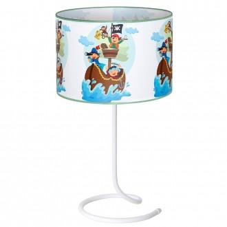 ALDEX 657B16 | Piraci-II Aldex stolna svjetiljka 53cm s prekidačem 1x E27 bijelo, višebojno