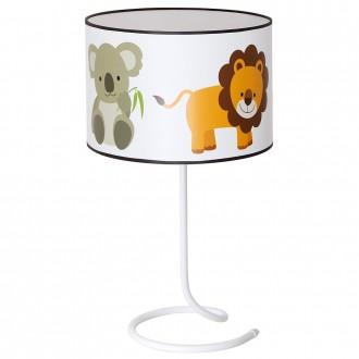 ALDEX 657B18 | Krokodylem Aldex stolna svjetiljka s prekidačem 1x E14 bijelo, višebojno
