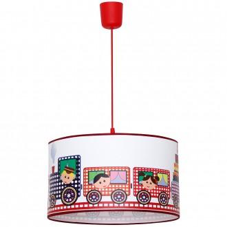 ALDEX 657G15 | Lokomoto-II Aldex visilice svjetiljka 1x E27 crveno, bijelo, višebojno